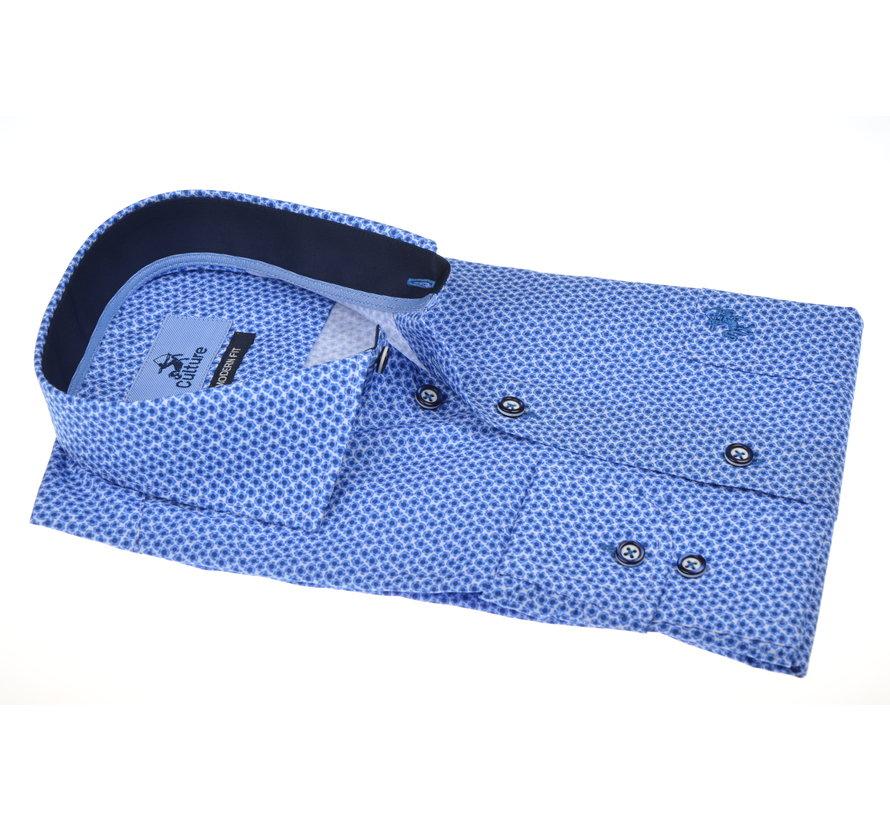 Overhemd Blauw Print (215132 - 33)