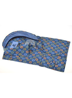 Culture Overhemd Print Bloemen Blauw (215149 - 93)