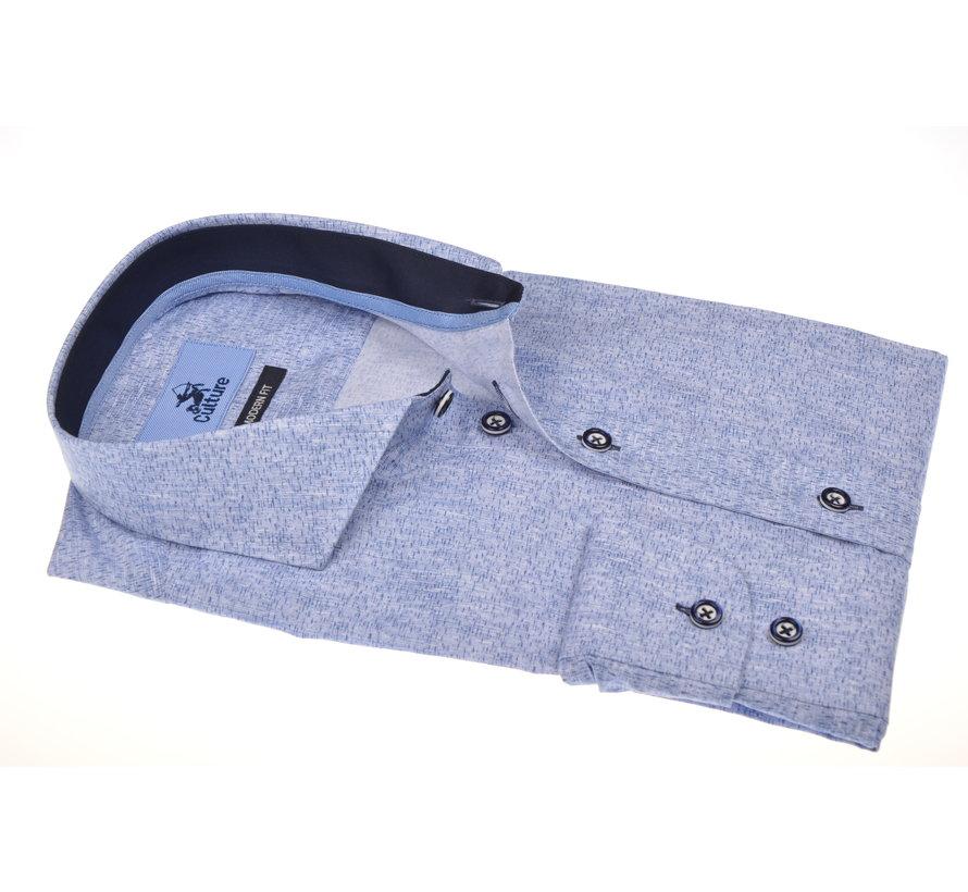 Overhemd Print Blauw (215301 - 34)