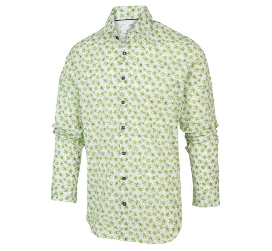 Overhemd Print Bloemen Groen (2065.21)