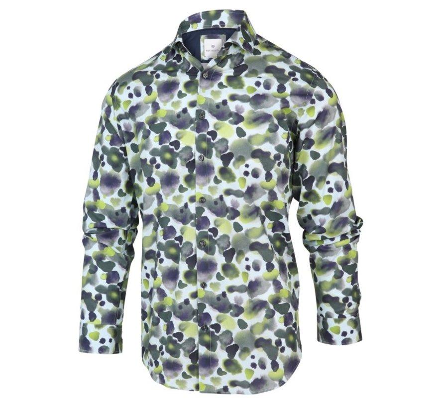 Overhemd Print Oil Stains Groen (2066.21)