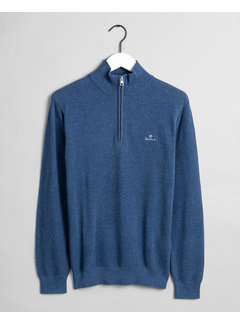 Gant Trui Half-Zip Denim Blue Melange (8030523 - 906)