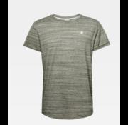 G-star T-shirt Ronde Hals Gemeleerd Groen Met Logo (D16396 - B140 - B111)