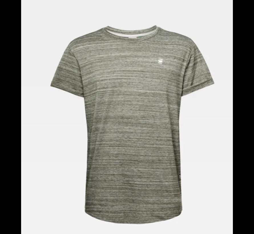 T-shirt Ronde Hals Gemeleerd Groen Met Logo (D16396 - B140 - B111)