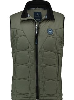 Haze&Finn Bodywarmer Puffer Army Groen (MC13-1030-Army Green)