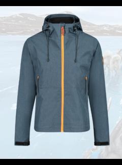 Haze&Finn Softshell Jas Arctic Blauw/Grijs (MA13-1000-Sapphire)