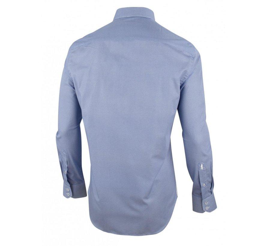 Overhemd Pietro Print Blauw (1001021 - 10605)