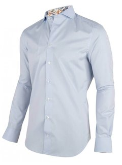Cavallaro Napoli Overhemd Ferro Structuur Lichtblauw (1001059 - 61000)