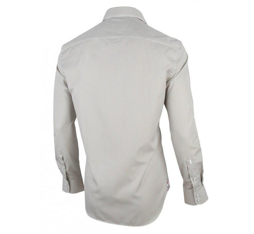 Overhemd Elisio Streep Beige (1001077 - 10502)