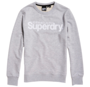 Superdry Sweater Logo Gemeleerd Lichtgrijs (M2010106A - 9SQ)