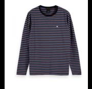 Scotch & Soda Longsleeve T-shirt Streep Blauw/Rood (155319 - 0220)