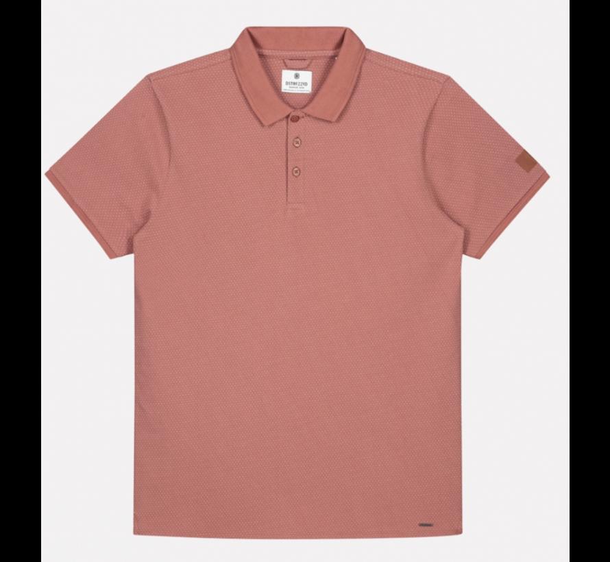 Korte Mouw Polo Mini Dot Roze (202548 - 434)
