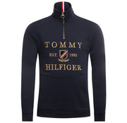 Tommy Hilfiger Half-Zip Sweater Logo Navy (MW0MW11574 - CJM)