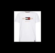 Tommy Hilfiger T-shirt Ronde Hals Met Logo Wit (MW0MW13342 - YBR)