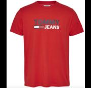 Tommy Hilfiger T-shirt Ronde Hals Met Logo Rood (DM0DM07843 - XNL)