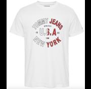 Tommy Hilfiger T-shirt Ronde Hals Met Logo Wit (DM0DM08100 - YBR)