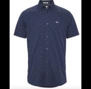 Tommy Hilfiger Overhemd Korte Mouw Print Navy Blauw (DM0DM08127 - C87)