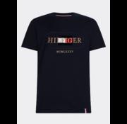 Tommy Hilfiger T-shirt Ronde Hals Met Logo Blauw (MW0MW13342 - DW5)