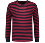 Dstrezzed Sweater Ronde Hals Rood/Navy Blauw Gestreept (211268 - 421)