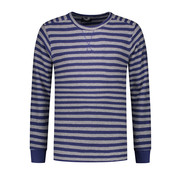 Dstrezzed Sweater Ronde Hals Grijs/Blauw Gestreept (211268 - 830)