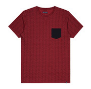 Dstrezzed T-shirt Ronde Hals Print Rood (251022D - 421)