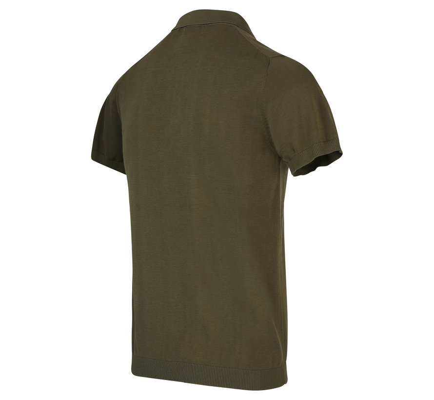 Polo Korte Mouw Army Groen (KBIS20 - M12 - Army)