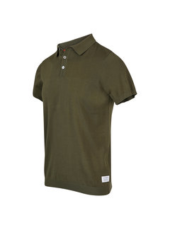 Blue Industry Polo Korte Mouw Army Groen (KBIS20 - M12 - Army)