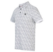 Blue Industry Polo Korte Mouw Print Wit (KBIS20 - M45 - Off White)