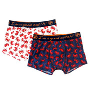 A Fish named Fred Boxershorts 2-pack Krabben Navy/Wit (20.01.271)