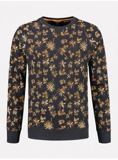 Dstrezzed Sweater Navy Met Print Palmbomen  (211304 - 649)