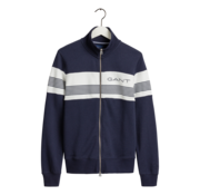 Gant Vest Navy Blauw Met Streep (2048002 - 433)