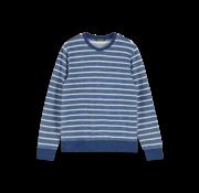 Scotch & Soda sweater streep blauw (155258 - 0219)