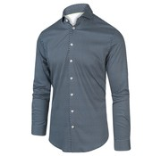 Blue Industry Overhemd Print Navy Blauw (2003.21)