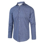 Blue Industry Overhemd Print Navy Blauw (2017.21)