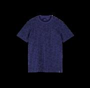 Scotch & Soda T-shirt Print Bloemen Paars (155403 - 0461)