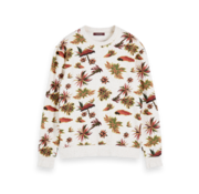 Scotch & Soda Sweater Tropical Print Wit (155283 - 0217)