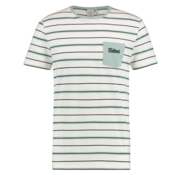 Kultivate T-shirt Ronde Hals Streep Wit (1901020240 - 203 - Ecru)
