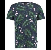 Kultivate T-shirt Ronde Hals Pint Navy Blauw (1901020230 - 319 - Dark Navy)