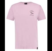 Kultivate T-shirt Ronde Hals Roze Met Logo (1901020224 - 479 - Thistle)