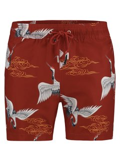 Kultivate Zwemshort Print Rood (1901025800 - 418 - Spicy)