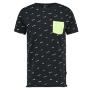 Kultivate T-shirt Ronde Hals Print Navy Blauw (1901030211 - 319 - Dark Navy)