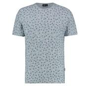 Kultivate T-shirt Ronde Hals Print Blauw (1901030215 - 331 - Blue Fog Melange)