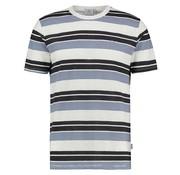 Kultivate T-shirt Ronde Hals Streep Wit (1901030216 - 203 - Ecru)