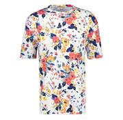 New In Town T-shirt Ronde Hals Bloemenprint Wit (8023015 - 103)