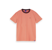 Scotch & Soda T-shirt Gestreept Oranje (155403 - 0219)
