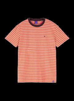 Scotch & Soda T-shirt Gestreept Oranje (155403 - 0219)