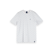 Scotch & Soda T-shirt Print Wit (155403 - 0220)