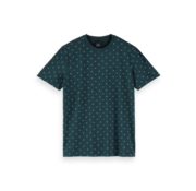 Scotch & Soda T-shirt Print Groen (155403 - 0222)