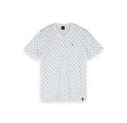 Scotch & Soda V-hals T-shirt Print Wit (155404 - 0220)