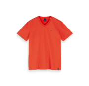 Scotch & Soda V-hals T-shirt Gestreept Rood (155404 - 0221)